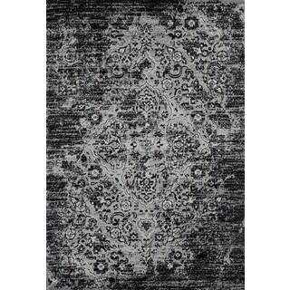 Persian Rugs Vintage Antique Designed Black and Grey Tones Area Rug (5'2 x 7'2)