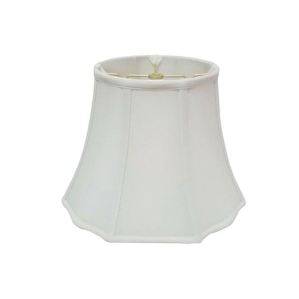 Royal Designs Flare Bottom Outside Corner Scallop White Lamp Shade, 9 x 16 x 12
