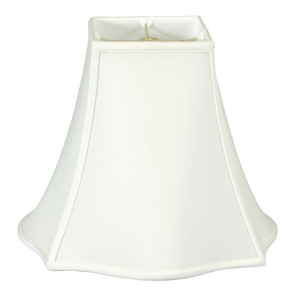 Royal Designs Fancy Square Bell Lamp Shade, White, 8 x 18 x 13.75