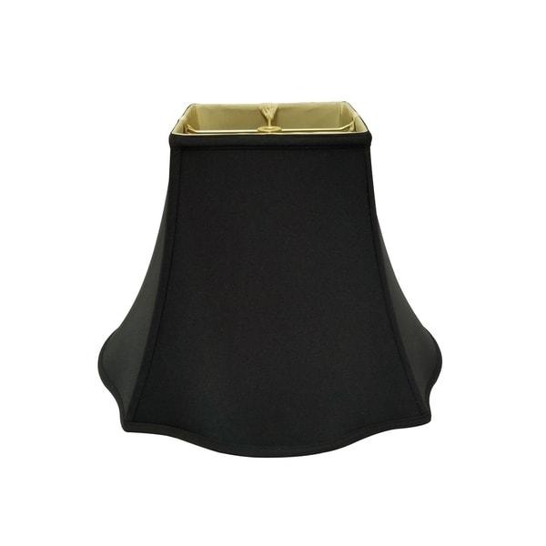 Royal Designs Fancy Square Bell Black Lamp Shade, 7 x 16 x 12.75
