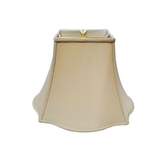 Royal Designs Fancy Square Bell Lamp Shade, Beige, 7 x 16 x 12.75