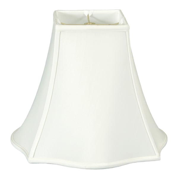 Royal Designs Fancy Square Bell Lamp Shade, White, 7 x 16 x 12.75