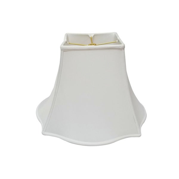 Royal Designs Fancy Square Bell White Lamp Shade, 7 x 16 x 12.75