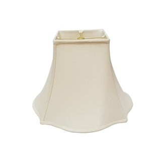 Royal Designs Fancy Square Bell Lamp Shade, Eggshell, 8 x 18 x 13.75