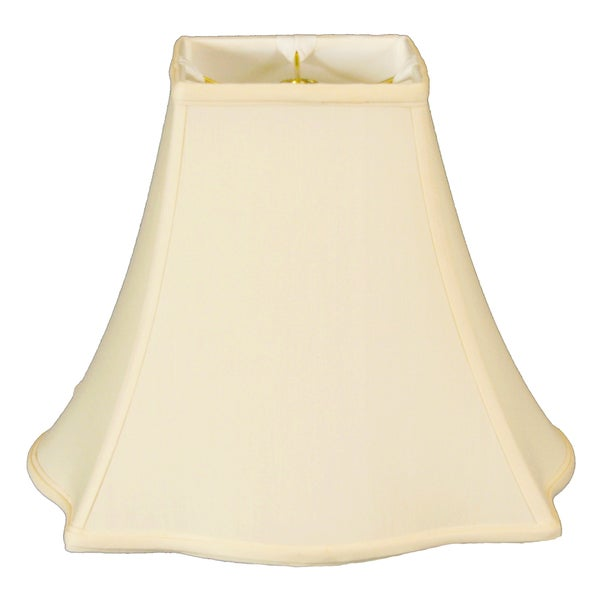 Royal Designs Fancy Square Bell Lamp Shade, Eggshell, 5 x 12 x 9.75
