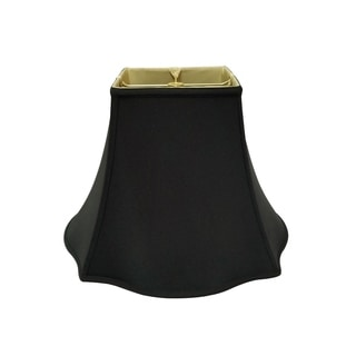 Royal Designs Fancy Square Bell Lamp Shade, Black, 4 x 10 x 8.5