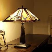 Chloe Tiffany Style Mission Design 2-light Blackish Bronze Table Lamp