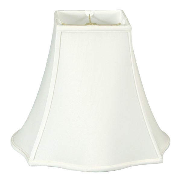 Regal Series Fancy Square Bell Lamp Shade, White, 7 x 16 x 12.75