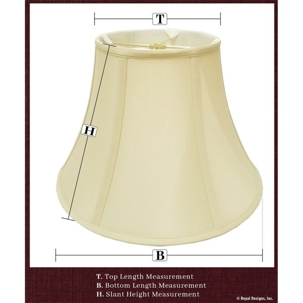 Royal Designs Fancy Square Bell Lamp Shade BSO-702-16WH White 7 x 16 x 12.75 Inc