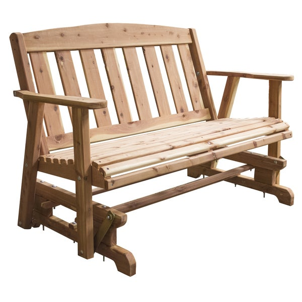 AmeriHome Amish Made Glider Bench Free Shipping Today