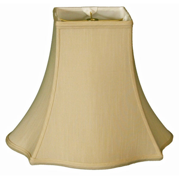 Regal Series Fancy Square Bell Lamp Shade, Beige, 7 x 16 x 12.75