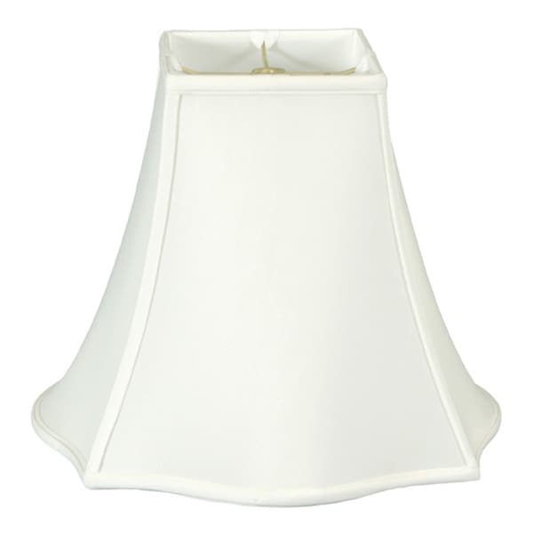 Regal Series Fancy Square Bell Lamp Shade, White, 6 x 14 x 11.5