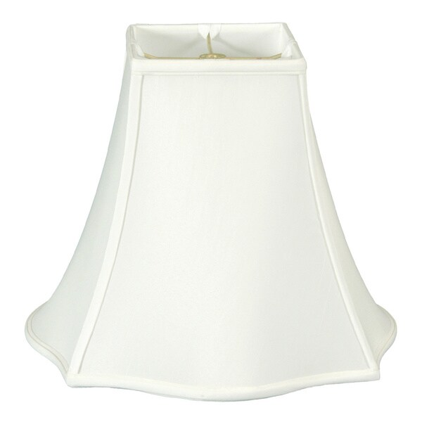 Regal Series Fancy Square Bell Lamp Shade, White, 5 x 12 x 9.75