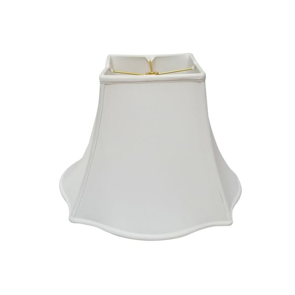 Shop Royal Designs White Fancy Square Bell Lamp Shade 5 X
