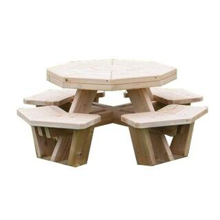 White Cedar Octagon Picnic Table -Small Size