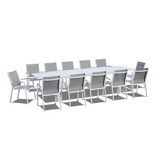 Urban Furnishing - 13 Piece Extendable Modern Outdoor Patio Dining Set - White|https://ak1.ostkcdn.com/images/products/14787880/P21308728.jpg?_ostk_perf_=percv&impolicy=medium