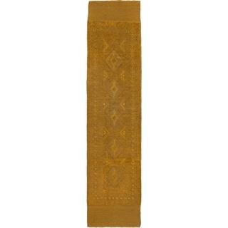 ecarpetgallery Tajik Caucasian Brown Wool Hand-knotted Rug (2'0 x 8'6)