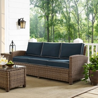 Bradenton Sofa with Navy Cushions
