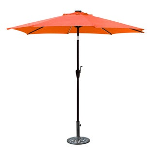 Jeco Brown Aluminum 9-foot Pole Umbrella with Crank and Solar Guide Tubes (5 options available)