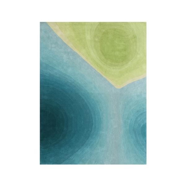 Alliyah Handmade New Zealand Blend Wool Contemporary Green Nature Rug - 8' x 10'