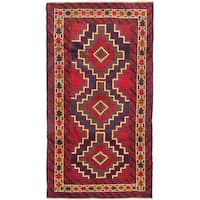 ecarpetgallery Hand-knotted Royal Balouch Red Wool Rug (3'5 x 6'1)