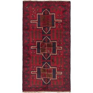 eCarpetGallery Hand-knotted Kazak Blue/Red Wool Rug (3'6 x 6'6)