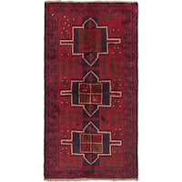 eCarpetGallery Hand-knotted Kazak Blue/Red Wool Rug (3'6 x 6'6)