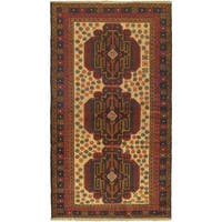 eCarpetGallery Rizbaft Brown Wool Hand-knotted Rug (3'7 x 6'5)