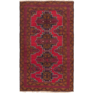 eCarpetGallery Hand-knotted Kazak Red Wool Rug (3'8 x 6'0)