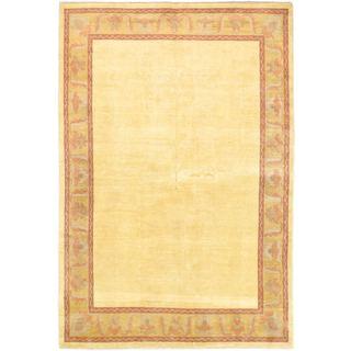 Ecarpetgallery Hand-knotted Finest Ziegler Chobi Yellow Wool Rug (6'6 x 9'7)