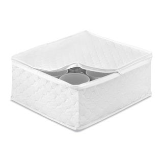 Whitmor White Vinyl China Storage Cup Case