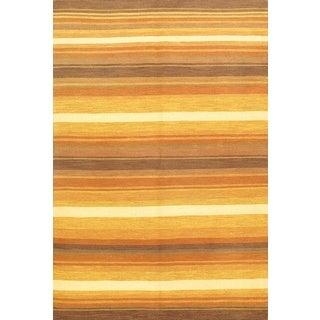 ecarpetGallery Multicolored Wool Hand-woven Lahor Finest Sumak Rug (5'8 x 8'6)