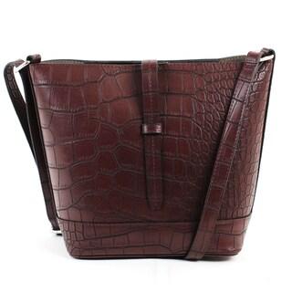 Emilie M Loren PVC Crossbody Bucket Handbag