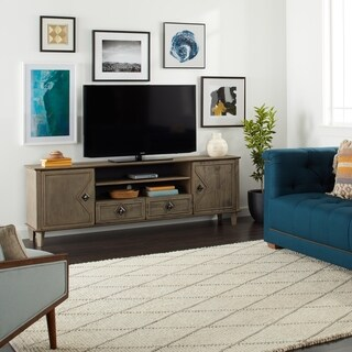 Pine Canopy Grey Weathered 2-door 2-drawer 84-inch Entertainment Center