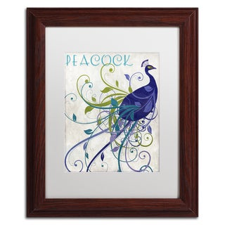 Color Bakery 'Peacock Nouveau I' Matted Framed Art