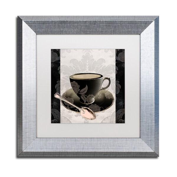 Color Bakery 'Vintage Cafe III' Matted Framed Art - Grey