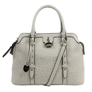 London Fog Lancaster Faux Leather Triple Satchel Handbag