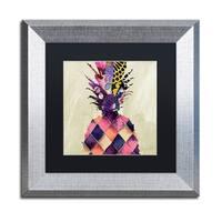 Color Bakery 'Pineapple Brocade II' Matted Framed Art - Multi