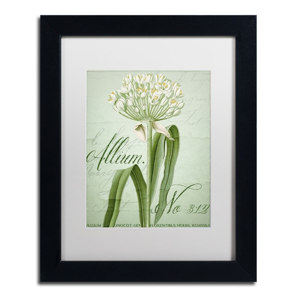 Color Bakery 'Allium I' Matted Framed Art