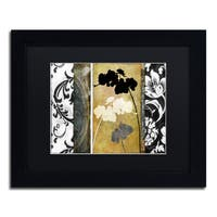 Color Bakery 'Gardenscape I' Matted Framed Art - Black