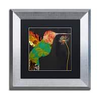 Color Bakery 'Hummingbird Brocade IV' Matted Framed Art - Grey