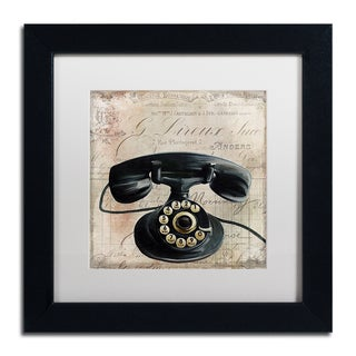 Color Bakery 'Call Waiting II' Matted Framed Art