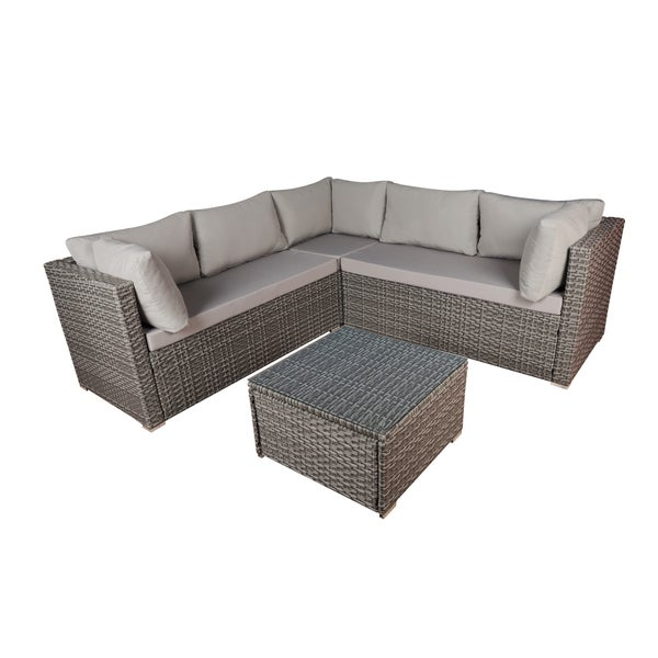 Modern Coffee Table For Sectional: Shop Modern Outdoor Sectional With Coffee Table