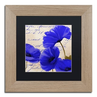 Color Bakery 'Coquelicots Bleues I' Matted Framed Art