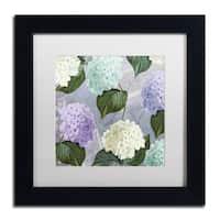Color Bakery 'Hortensia Lavenders' Matted Framed Art - Black