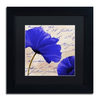 Color Bakery 'Coquelicots Bleues II' Matted Framed Art