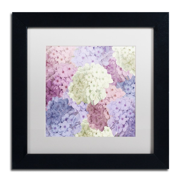 Shop Color Bakery Hortensia Groundless Warm Tones Matted Framed - Color-hortensia