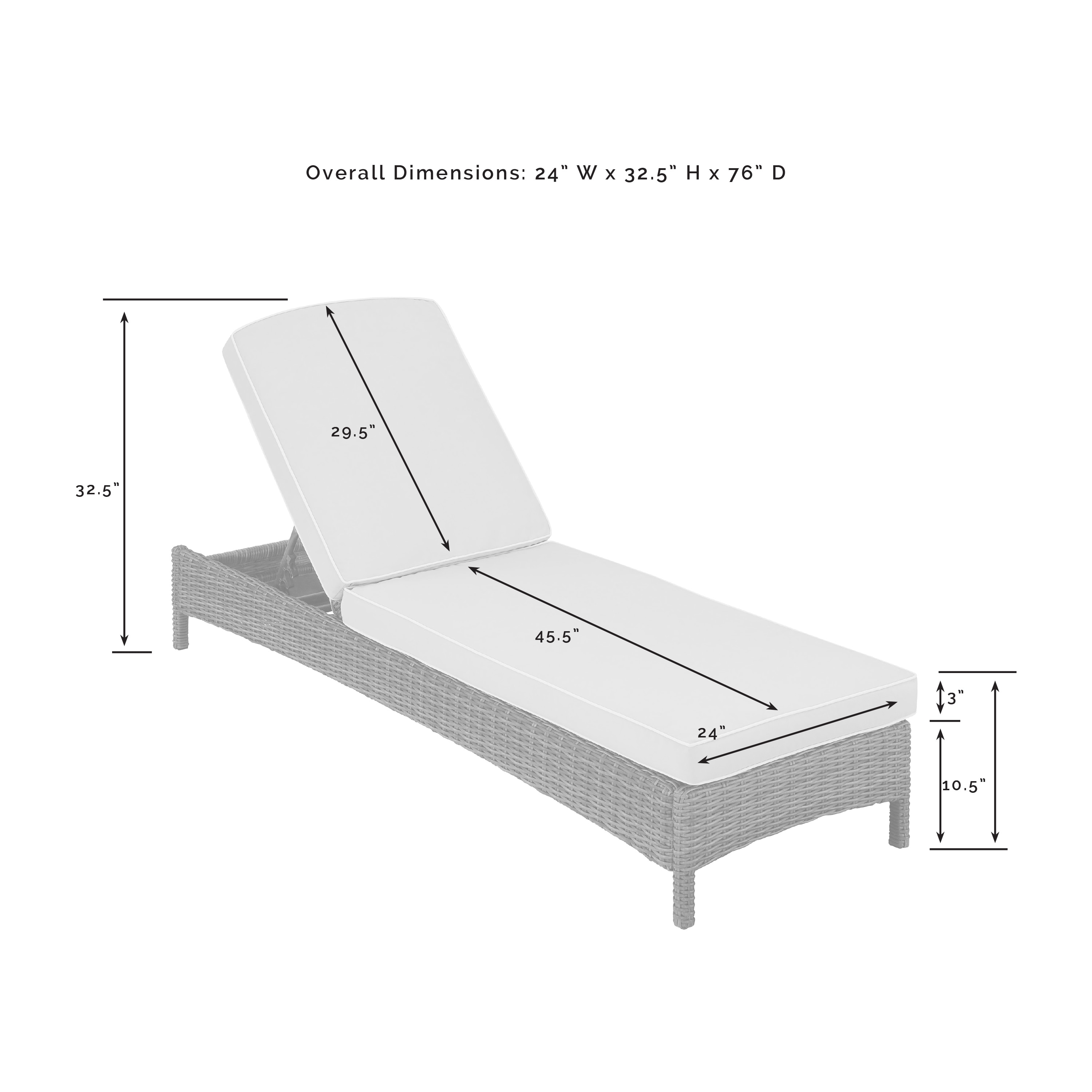 Bradenton Chaise Lounge With