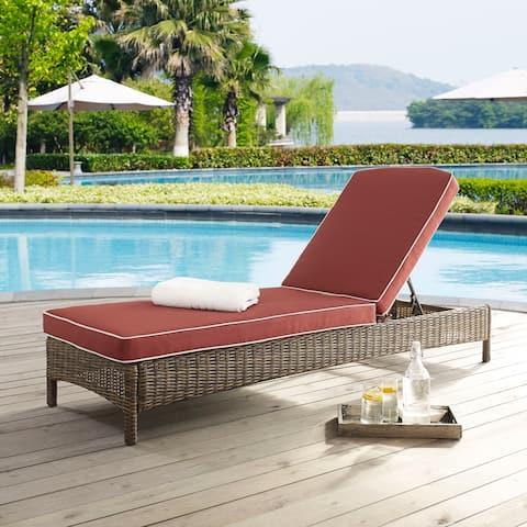 Bradenton Chaise Lounge with Sangria Cushions