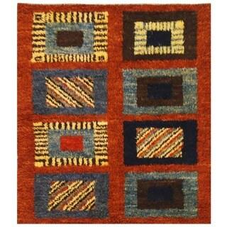 Herat Oriental Afghan Hand-knotted Vegetable Dye Gabbeh Wool Rug (5'7 x 6'3)